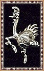Vintage Sterling Silver Mexican Pin Big Bold Ostrich