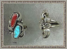 Sterling Silver Native American Ring by Baker Turquoise