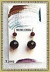 18K Gold Cherry Red Amber Earrings Double Bead 13mm