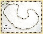 Signed 14K Gold Akoya Pearl Sapphire Necklace Strand