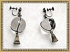 Vintage Pools of Light Earrings Deco Sterling Silver