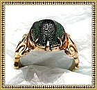 Vintage 14K Gold Ring Egyptian Scarab Beetle Arts &