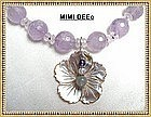 460 Carats Lilac Amethyst Necklace Sterling Silver