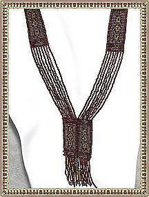 Antique Multi Beaded Sautoir Cut Steel Necklace