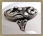 "Vintage Signed ""M"" Scandinavian Sterling Silver Ring"