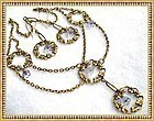Victorian Inspired Festoon Necklace Alexandrite Glass