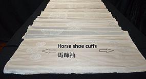 ANTIQUE CHINESE SILK BROCADE - MANCHU ROBE