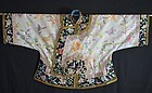 Chinese Manchu woman's embroidered silk Waistcoat