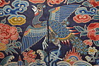 Antique Chinese silk embroidered rank badge - Peacock