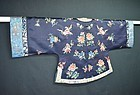 Antique Chinese Qing dynasty silk embroidered robe