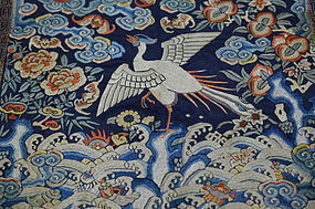 Antique Chinese embroidered silk rank badge- 1800's