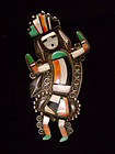 Zuni Rainbow Man Pin