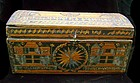 Rare Spanish Colonial Straw Encrusted Document Box