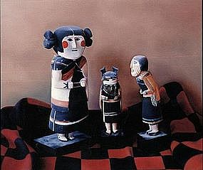 "Wendy Meng ""Meeting of the Manas"" Oil on Canvas"