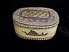 North West Coast Lidded Basket