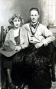 """Harrad and his girl in portland"" Real Photo Postcard"