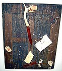 "Alan Kessler ""Hanging Antler Knife"" Oil on Wood"