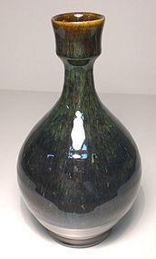 Karatsu Style Temmoku & Haiyu Bottle Tokkuri