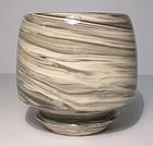 "Porcelain Jovian Storms Neriage ""Eye"" Chawan"