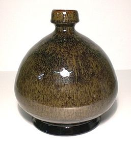 Partridge Feather Broad Bottle/Vase
