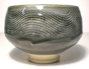 Ao Nami-Kushime Wan-gata Teabowl (1143tb)