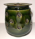 ORIBE IMPRESSED SATURN FLANGE COVERED JAR
