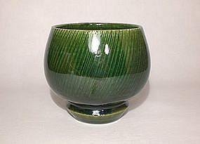 Oribe Styled Chawan with Shono Pattern