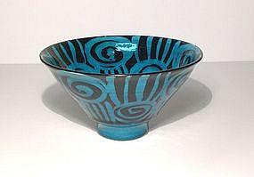 Persian Blue Rozome Design Teabowl