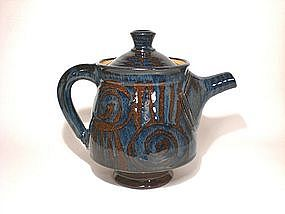 Ame & Cobalt Decorated Teapot