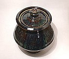 Ameyu & Copper Rain Pattern Storage Jar