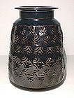 Temmoku Archaic Impressed Vase