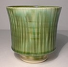 Fujina Style Etched Bamboo Groove teabowl