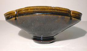 Lg. Lobed Temmoku & Haiyu Teabowl (1105tb)