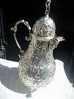 Mid 19thc Dutch Silver Chocolate Pot Marked