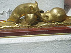 French 19thc Gilt Bronze-Two Mice & Snail G. Gardet