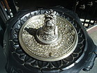 Stupendous 19thc German Silver/Bronze Inkwell