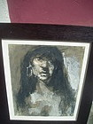 Striking Modernist Oil Painting of a Jezebel Signed