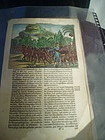 17thc Dutch Engraving Caribbean Indians & Explorer