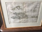 18thc Map of Santo Domingo and Puerto Rico Dtd Sgnd Bonne