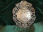 17thc Baroque 800 Silver Medallion Marked European
