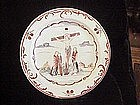 French Faiece plate, 18th century