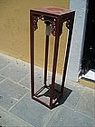 Chinese Painted Wood Fern Stand  1920s