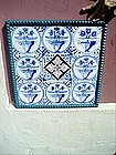 9 Delft Tiles 18tc Mounted  Floral Motif