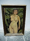 Danish Oil Painting Sgnd dtd 1918 Lush Nude