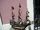 Antique Handmade English Galleon ca1900