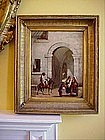 Italian Oil on Panel-19thc-Signed--N. African