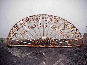 Forged Iron Transom Spanish Colonial-1880s
