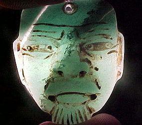 Olmec Miniature Jade Maskette 2 COAs w/video