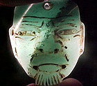 Olmec Miniature Jade Maskette 1200BC w/video