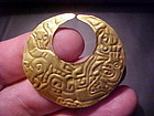 Chavin 23K Gold Pendant or Nose Ornament